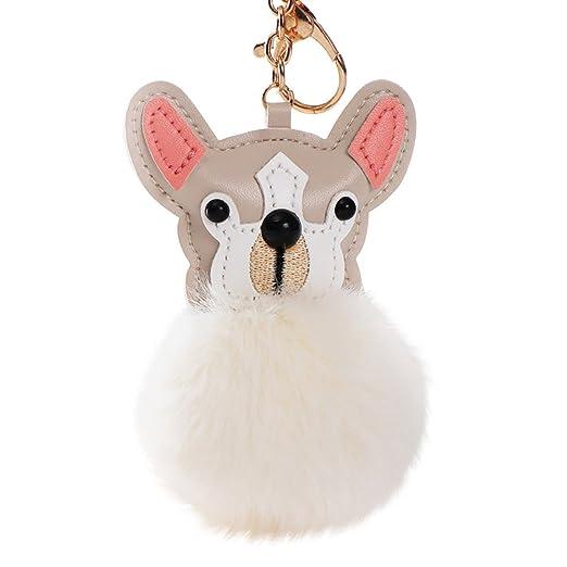 Amazon com: Cute Glossy Puppy Faux Rabbit Fur Cony Hair Ball