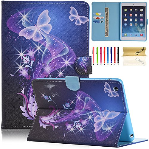 iPad mini Case, iPad mini 2 Case, Dteck Stylish Folio Stand Case with Card Slot with Auto Sleep/Wake Feature Smart Magnetic Cover for Apple iPad Mini 3/2/1 (Twinkle Butterfly)