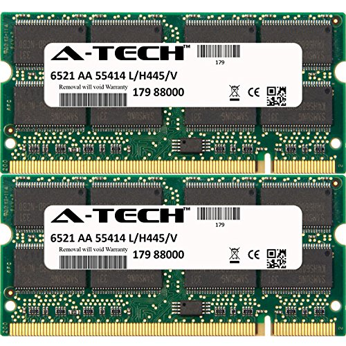 A-Tech 2GB KIT (2 x 1GB) For HP-Compaq Presario Notebook Series V4145EA V4146EA V4147EA V4160EA V4209TU (DDR) V4214TU (DDR) V4221TU (DDR) V4325US (DDR) V4. SO-DIMM DDR NON-ECC PC2700 333MHz RAM Memory