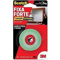 Fita Dupla Face 3M Scotch Fixa Forte Fixação Extrema - 24 mm x 2 m, Scotch, HB004492250