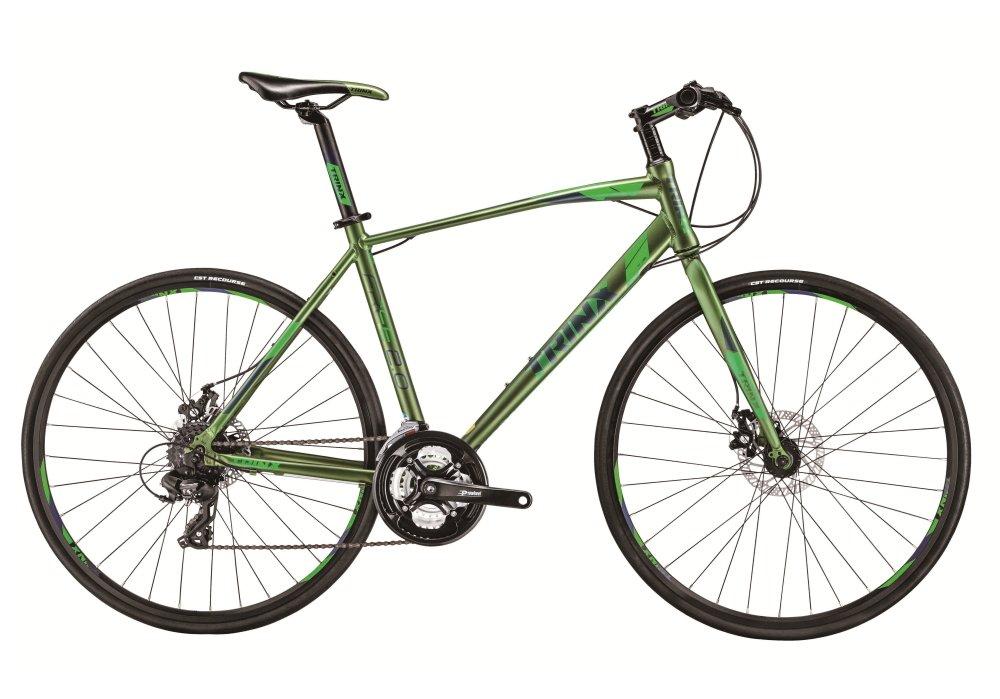 TRINX(トリンクス) 【クロスバイク】全天候型 前後Wディスクブレーキ シマノ24速変速 軽量アルミ700Cフレームの本格派クロスバイク街乗りから競技までオールラウンドバイク グリーン FREE2.0 グリーン 470mm B07DP3QTVL