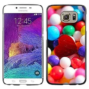 TopCaseStore / la caja del caucho duro de la cubierta de protección de la piel - Candy Heart - Samsung Galaxy S6 SM-G920