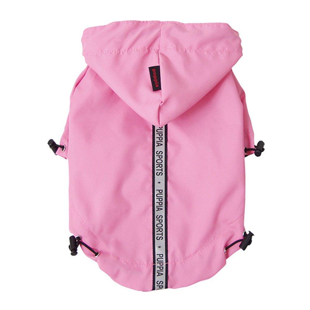 Puppia Authentic Base Jumper Raincoat, 4X-Large, Pink