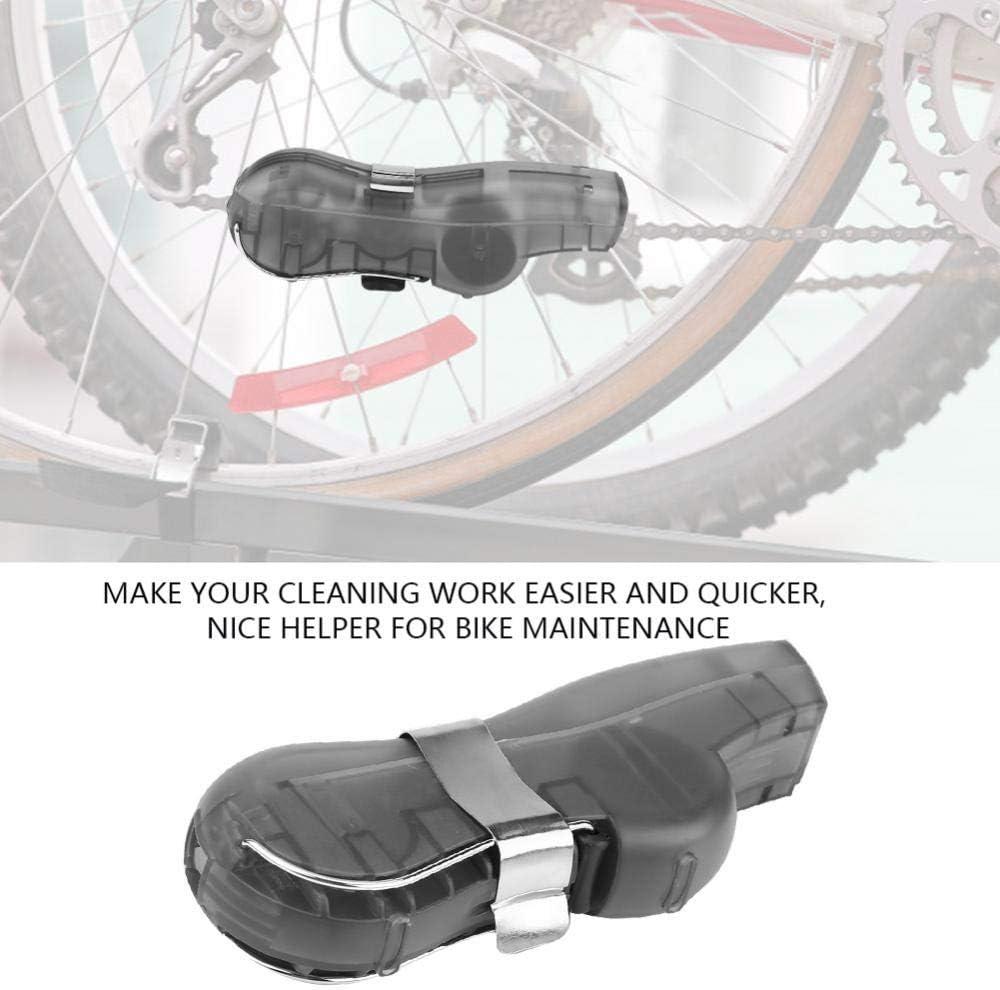 Alomejor Bike Chain Cleaner Cepillo Giratorio Scrubber Herramienta De Limpieza para Bicicletas De Ciclismo Road Bikes Mountain Bike MTB