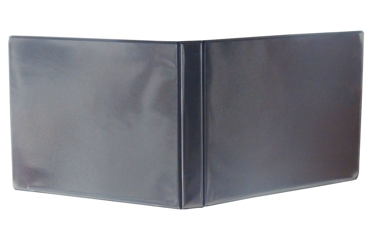 """1"""" Heavy Duty Landscape Binder - Black vinyl - Holds text in horizontal format - Overlay inserts for the front, spine and back with inside pockets - Great for engineering drawings, city planning, by LandscapeBinder-com (Image #1)"""