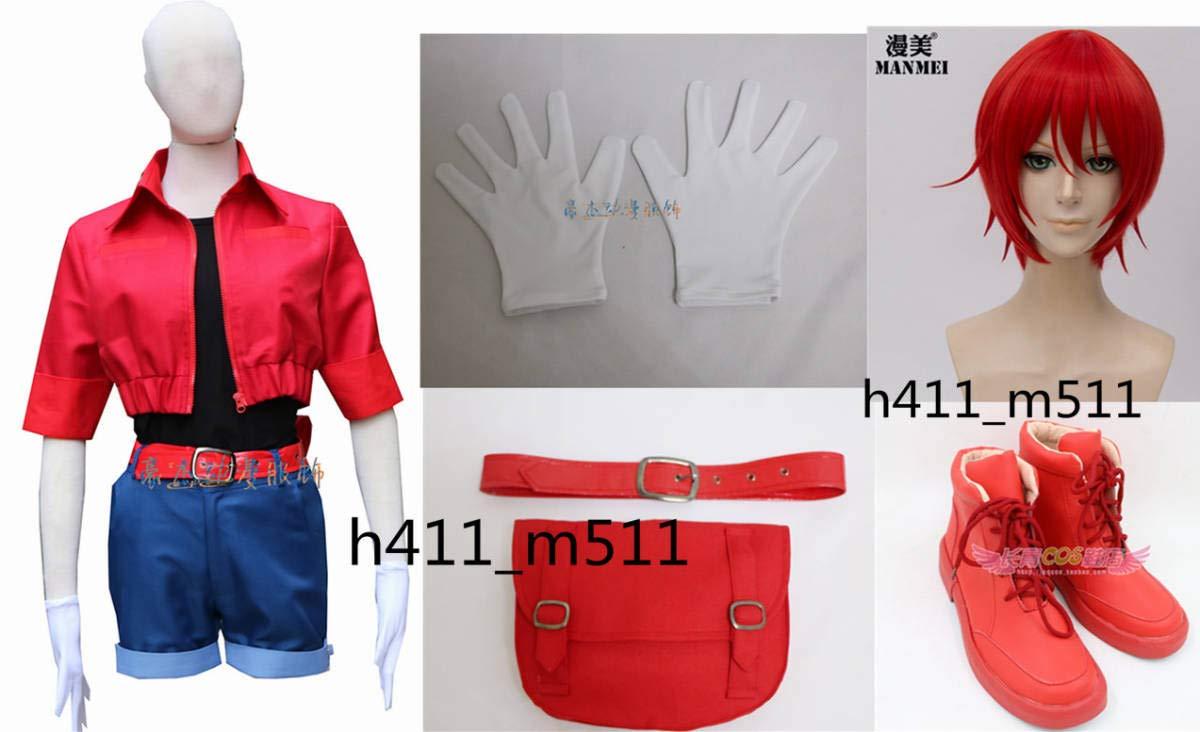 ★はたらく細胞 赤血球●コスプレ衣装 +手袋 風 全セット限定 + ウィッグ+靴   B07GDMV5C1
