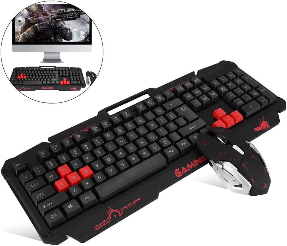2.4G 104Keys HK1868 10M Combo de Teclado y Mouse Inalámbricos Portátiles: Amazon.es: Electrónica