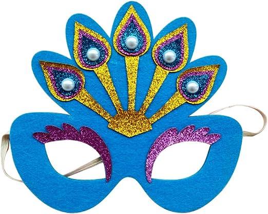 Amosfun 1PC Máscara de Pavo Real de Mujer Que Brilla en la máscara ...