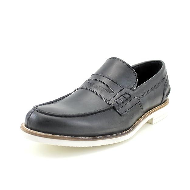 GIORGIO REA Zapatos Para Hombre Penny Loafers Mocasines Hombre Hecho a Mano EN Italia Gris Elegantes: Amazon.es: Zapatos y complementos