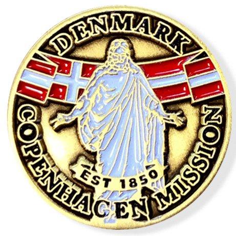 LDS Denmark Copenhagen Mission Commemorative Lapel ()