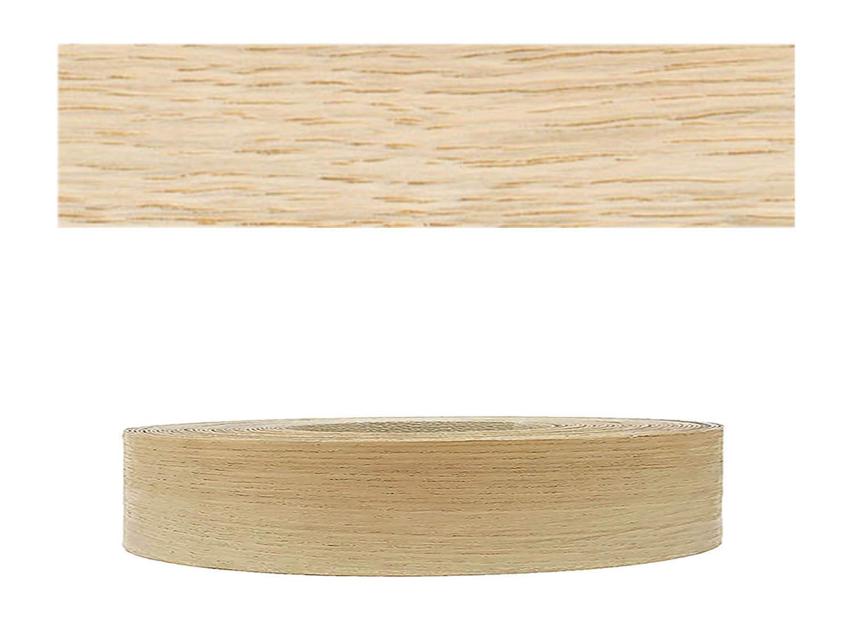 Mprofi (20m rollo) Cantoneras enchapadas con pegamento Chapa de madera Roble europeo SK 22mm