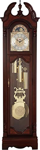 Howard Miller Langston Grandfather Clock 611-017 Windsor Cherry with Single-Chime Movement