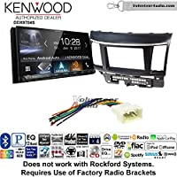 Volunteer Audio Kenwood DDX9704S Double Din Radio Install Kit with Apple Carplay Android Auto Fits 2008-2015 Mitsubishi Lancer