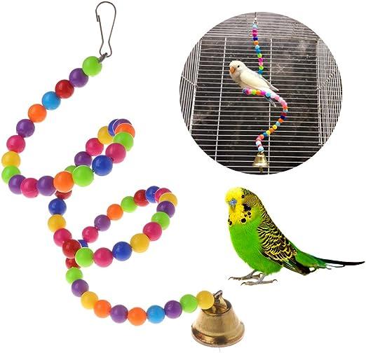 ECMQS pájaro Balancín Escalera Juguete, para el Cuidado de sujeción y schnäbeln, Juguete para pájaros, Loros, Periquito, cacatúas: Amazon.es: Productos para mascotas