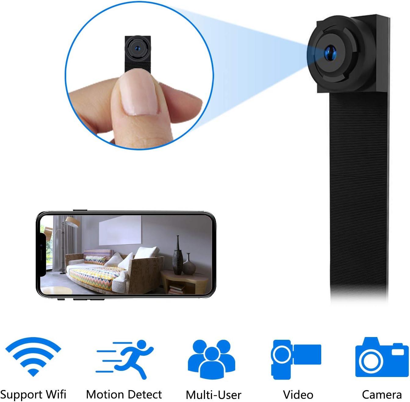 Mini Camara Espia WiFi,1080P DIY Cámara Oculta IP 2.4Ghz Vigilancia Portátil Secreta Compacta con Detector de Movimiento, WLAN Camaras de Seguridad Pequeña