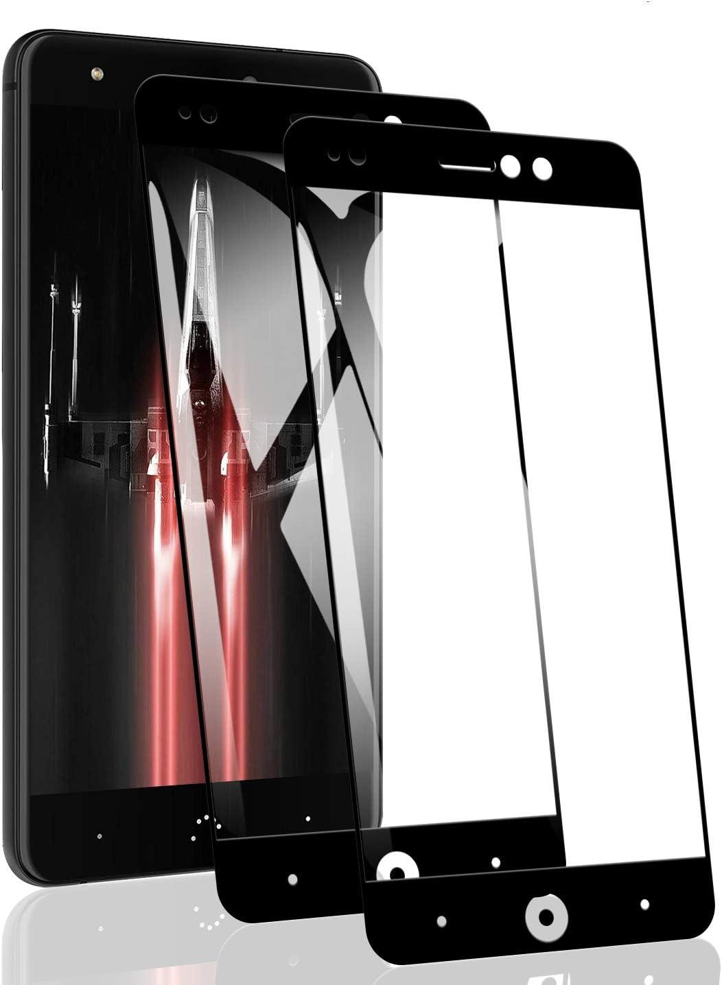 RSSYTZ [2 Pack Protector de Pantalla para BQ Aquaris X Cristal Templado, [9H Dureza] [Resistente a Arañazos] [Admite la función de Huella Digital] Vidrio Templado Screen Protector