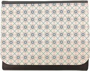 محفظة جلد بتصميم زخرفة تراثية رمضانية، مقاس 12cm X 10cm