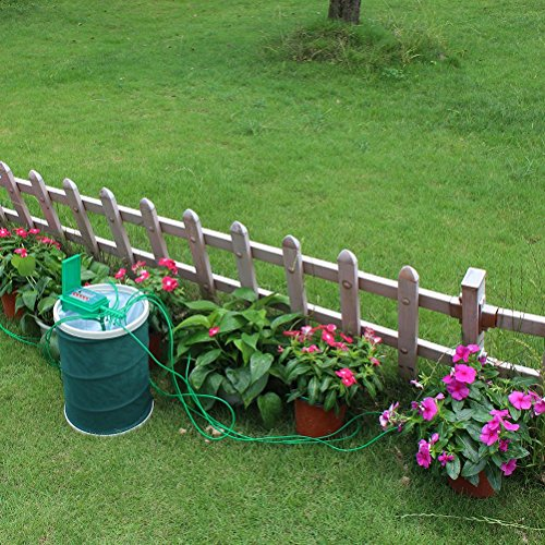 Automatic micro home drip irrigation system sprinkler with for Home garden irrigation design