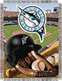 "MLB Miami Marlins Home Field Advantage Woven Tapestry Throw, 48"" x 60"""