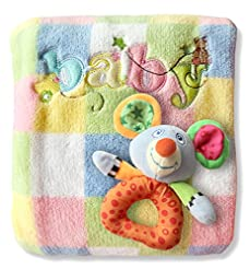 Baby Blanket & Rattle Gift Set for Boys ...