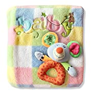 Baby Blanket & Rattle Set for Boys & Girls. Unique Newborn Shower Gift. Best Quality Soft Fleece. Perfect Size for Infant to Toddler - 30 x40