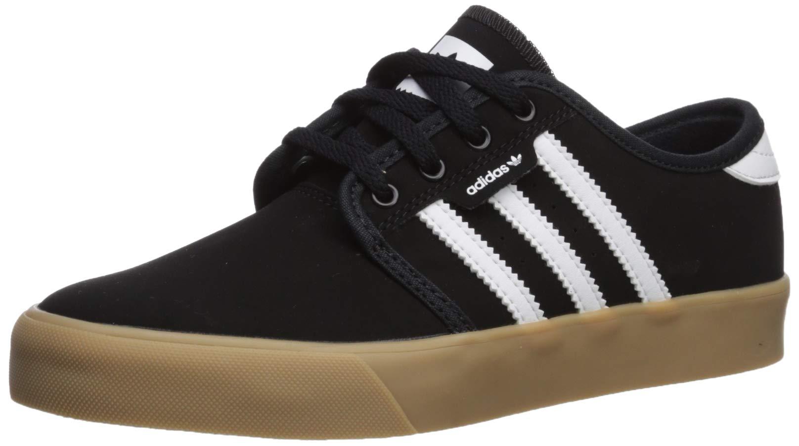 adidas Originals Unisex Seeley Sneaker, Black/White/Gum, 7 M US Big Kid