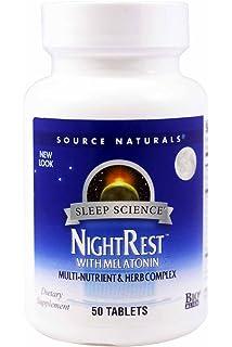 Source Naturals Nightrest with Melatonin 50 Tabs