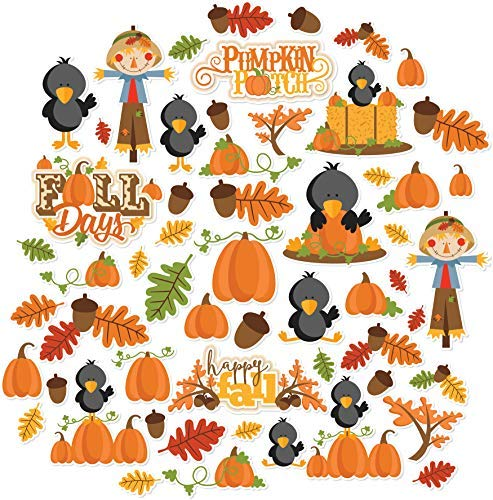 Fall Days - Die Cuts & Paper Set - by Miss Kate Cuttables - 16 Sheets of 12''x12'' Specialty Paper & Over 60 Coordinating Die Cuts - Exclusive Original Matching Set