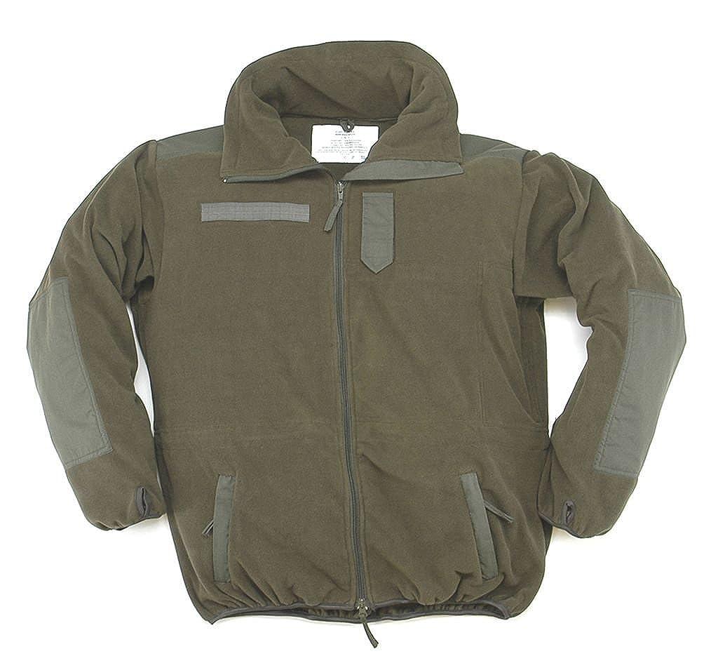 A. Blöchel Wind+ wasserdichter Windbreaker Warme Fleece-Jacke mit Membrane Wandererjacke Oliv Übergrößen S-5XL
