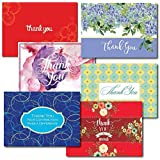 Thank You Greeting Card Assortment. A 30-Card Box Set of 5 each of 6 Different Designs and Verses, Allowing You to Show Appreciation in a Variety of Ways. Suitable for Personal or Business Use.