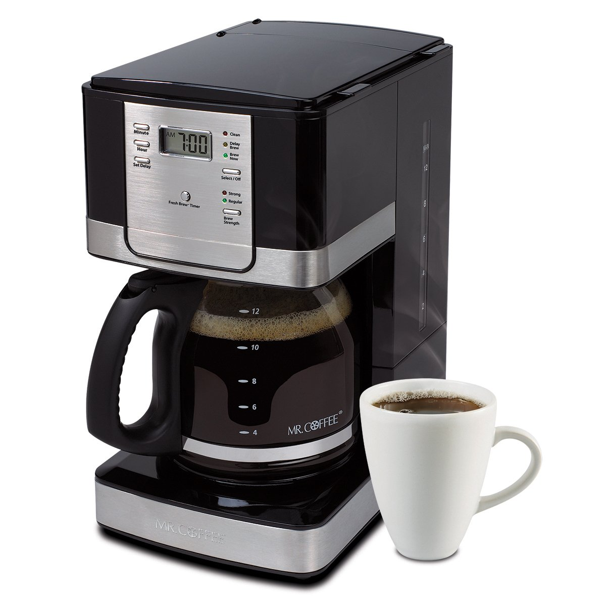 Mr. Coffee Coffee [ミスターコーヒー] Advanced B011BH5AXC Brew 12-Cup プログラマブル プログラマブル コーヒーメーカー Black/Stainless Steel Accents, JWX27-A [並行輸入品] B011BH5AXC, フラワーアトリエ 仁:12793315 --- ijpba.info