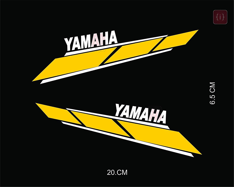 ORIGINAL Yamaha 4cm Aufkleber-ROT//CHROM-Emblème-Emblema-40mm LOGO EMBLEM