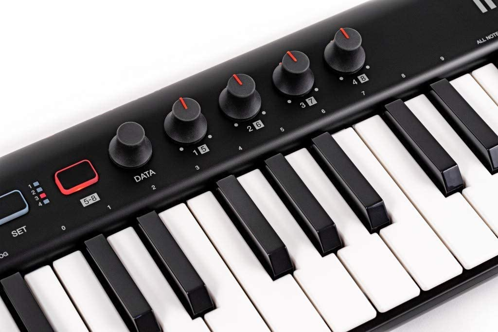 IK Multimedia iRig Keys 2 - Teclado MIDI Universal, Compacto con 37 Mini-Teclas y Salida de Audio para iPhone, iPad, Android, Mac/PC, Negro