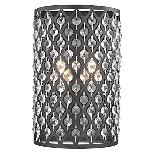 - Modern Crystal Bronze Wall Sconce
