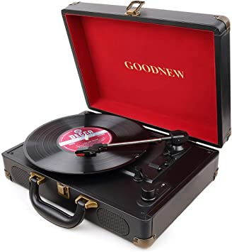 Amazon.com: GOODNEW reproductor de discos de vinilo ...