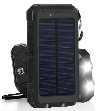 Cargador solar, Solar Power Bank 12000 mAh batería externa ...