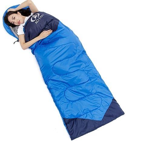 SUHAGN Saco de dormir Bolsa De Dormir Al Aire Libre Para Adultos Invierno Camping Viaje Interior