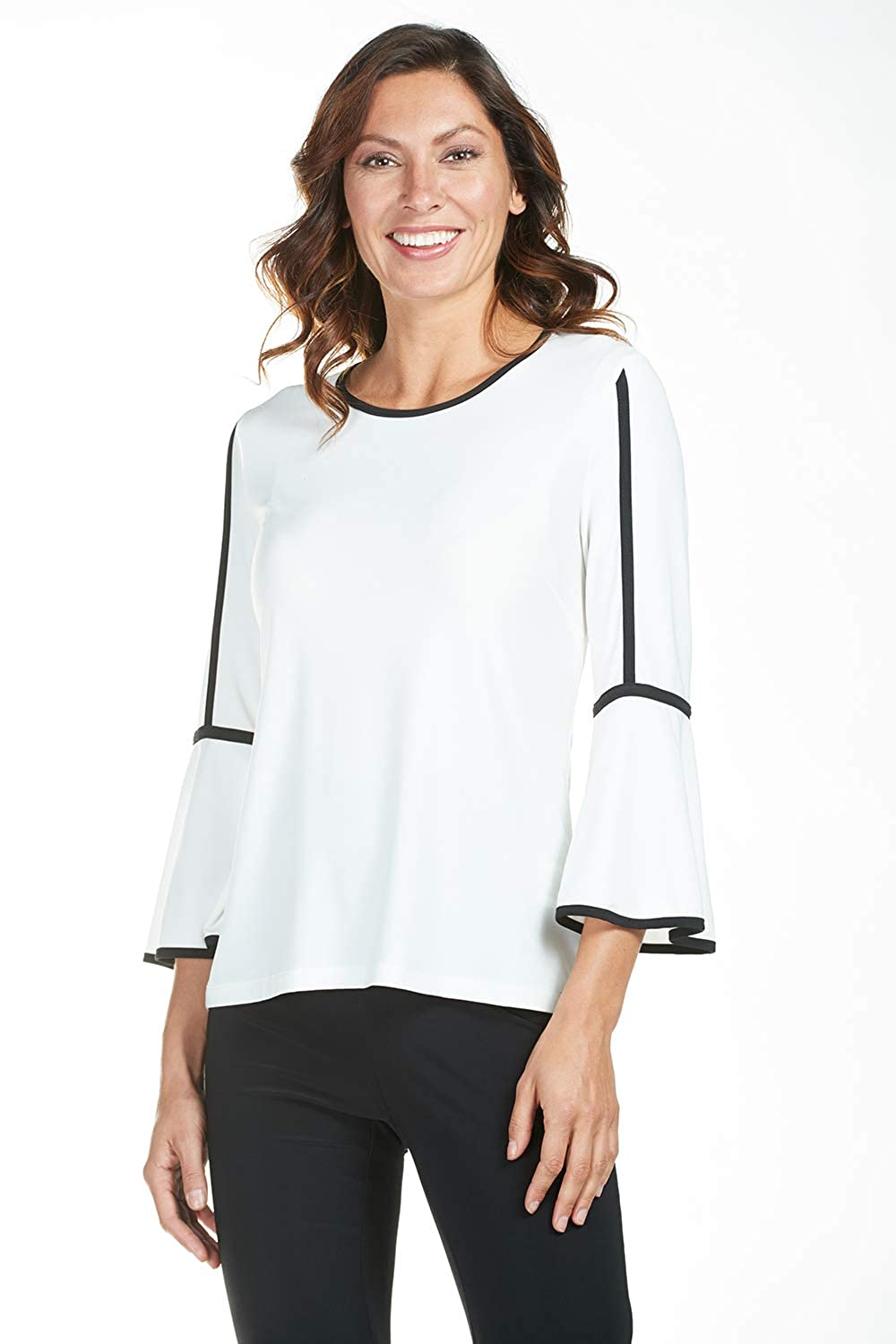 d7fda8197ff20c Frank Lyman Women s Top Style 185041 Off-White Black at Amazon Women s  Clothing store