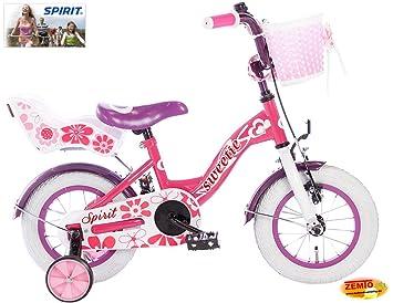 416bf87f4 Bicicleta holandesa para niña 12 pulgadas Spirit Sweetie Rosa - Lila:  Amazon.es: Deportes y aire libre