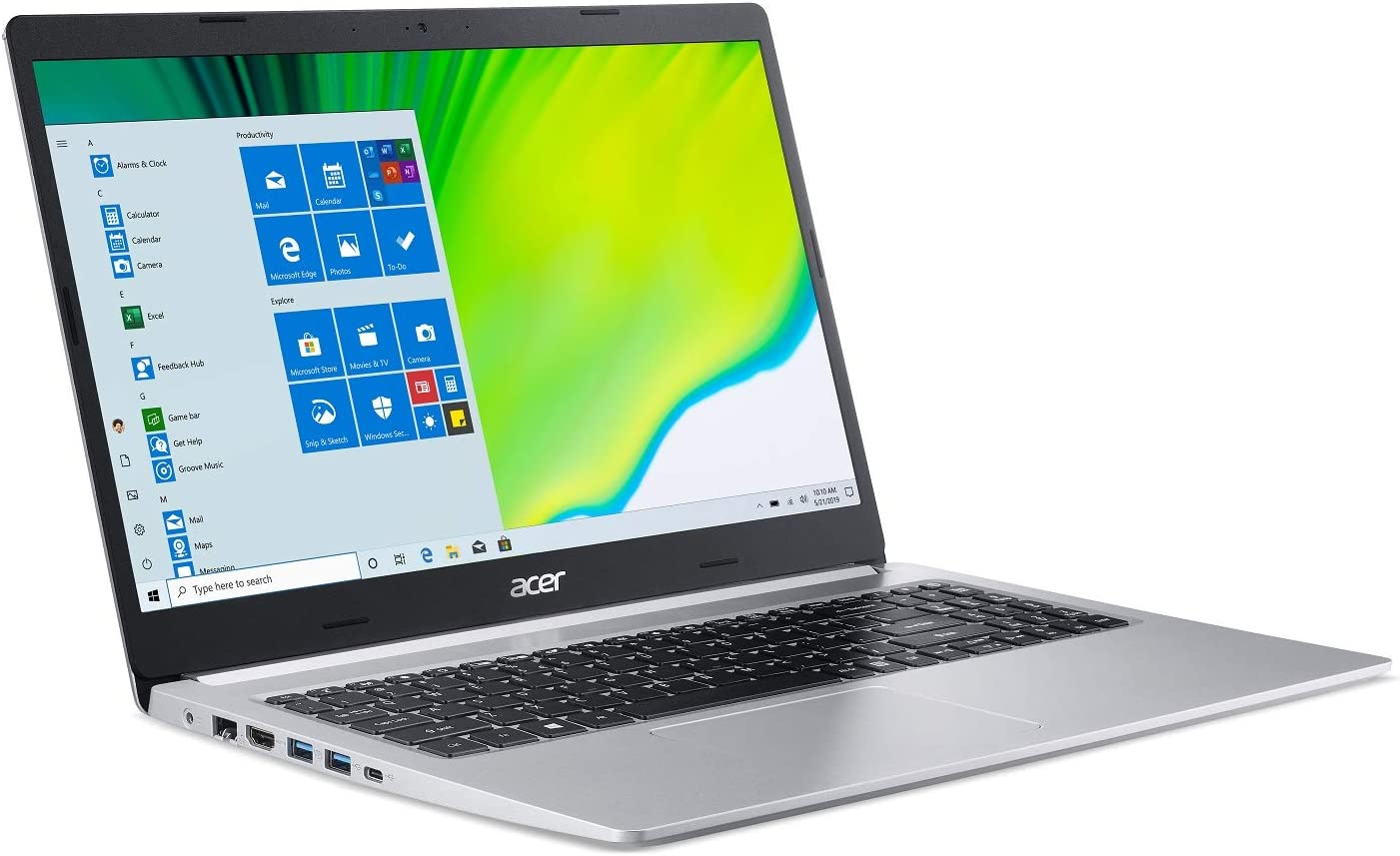 "Acer Aspire 5 A515-44-R2SA, 15.6"" Full HD, AMD Ryzen 7 4700U Octa-Core Mobile Processor with Radeon Graphics, 8GB DDR4, 512GB NVMe SSD, WiFi 5, HD Webcam, Backlit Keyboard, Windows 10 Home"