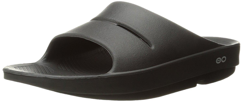 OOFOS Unisex Ooahh Slide Sandal,Black,12 B(M) US Women/10 D(M) US Men