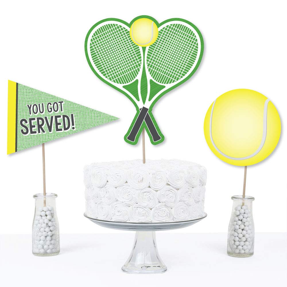 You Got Served Baby Shower or Tennis Ball Birthday Party Centerpiece Sticks Table Toppers Set of 15 Tennis