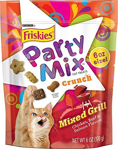 Nestle PURINA PETCARE 050447 Friskies Crunchy Party Mix Mixed Grill for Pets (Pack of 7), 6 oz.