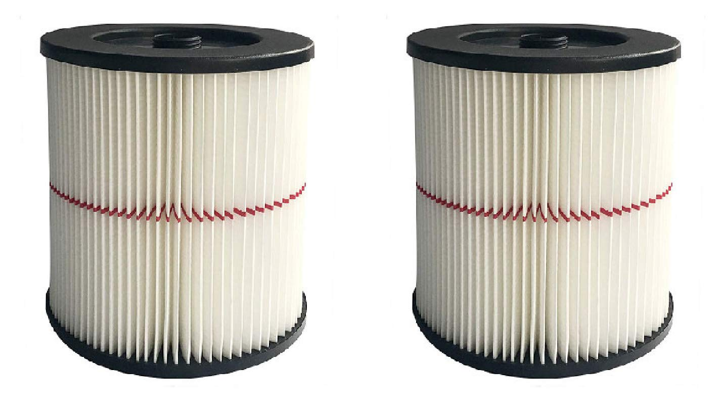 Nispira Replacement HEPA Filter Compatible with Craftsman Red Stripe Shop Vac Wet/Dry Vacs Vacuum. Compared to Part 17816 9-17816. 2 Filters