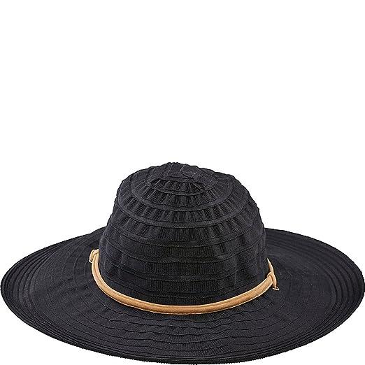 San Diego Hat Chin Cord Ribbon Floppy (One Size - Black) at Amazon ... 6dc5e96486ab