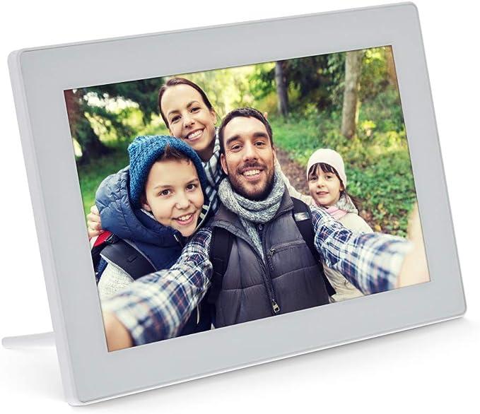 Inline Digitaler Wifi Bilderrahmen Wiframe 10 1 1280x800 16 9 Lcd Ips Touchscreen Frameo App Weiß