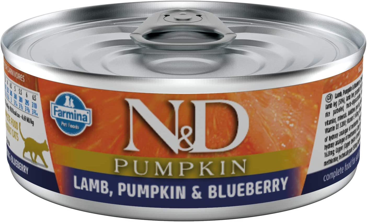 Farmina Natural & Delicious Lamb, Pumpkin and Blueberry for Cats, 2.8 Ounce, Case of 12