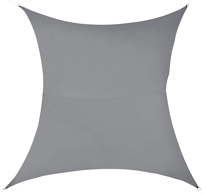 en.casa Tenda a Vela Parasole Oscurante Protezione Raggi UV e Vento Impermeabile Quadriforme 2m x 2m Color Sabbia