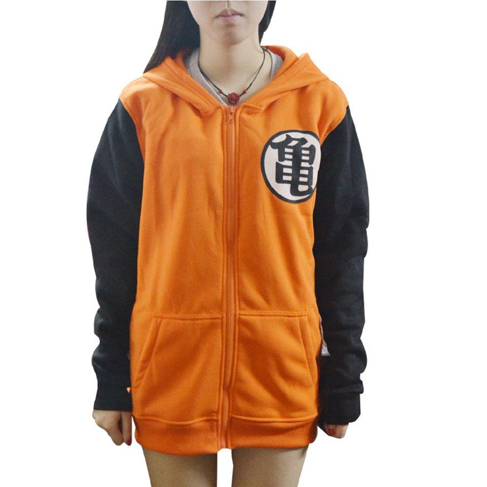 PIZZ ANNU Hommes Dragon Ball Sportswear Zip-Up Pulls à Capuche pour Adultes