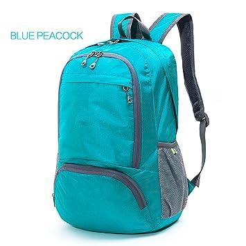 Backpack Paquetes de Piel Ultra Ligero Plegable Mochila de Viaje Mochila al Aire Libre Mochila montañismo